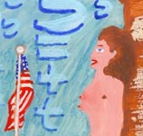 Nudes with U.S. Flag